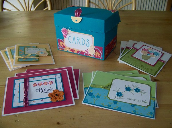 Jumbo Card box & cards