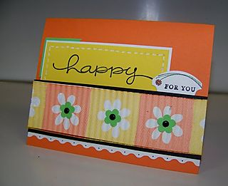 Crimped ribbon card