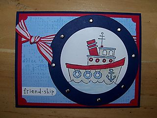 July Club friend ship card