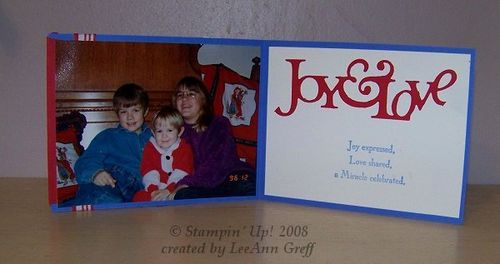 Christmas photo card 3 inside