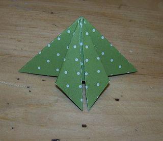 Origami xmas tree 4