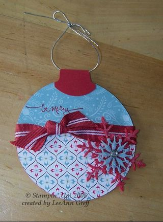 Ornament gift card front