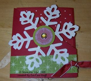 Big shot snowflake card