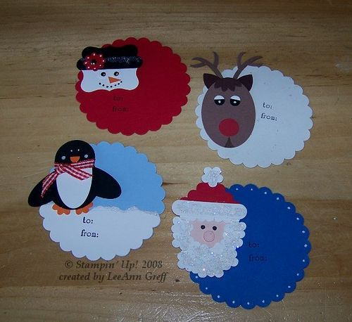 Punch art xmas tags