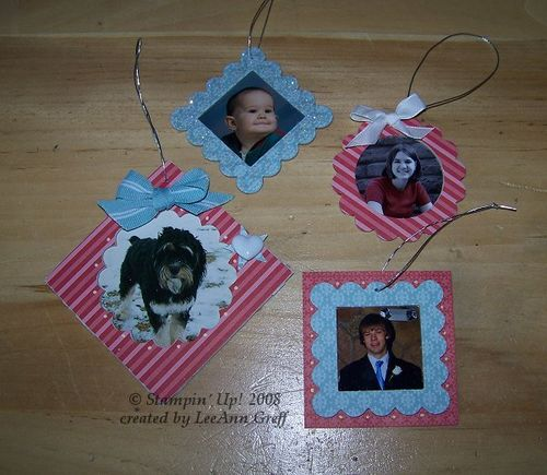 Country living pic ornaments