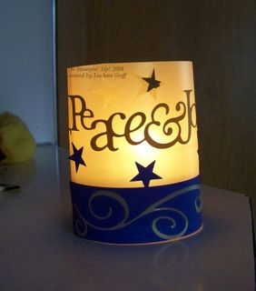 Peace Big Shot votive wrap