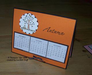 December club calendar card