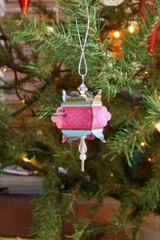 Scallop square ornament
