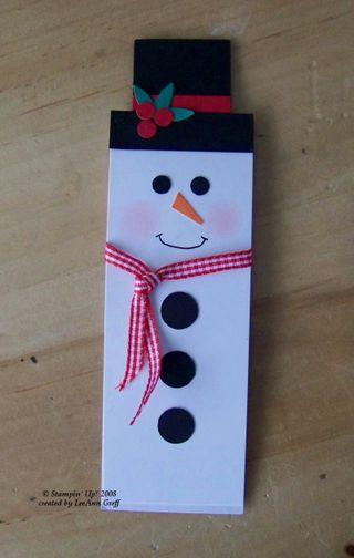 Kristin's snowman bookmark