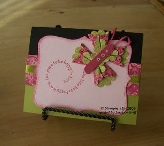 Scalloped punch butterfly card