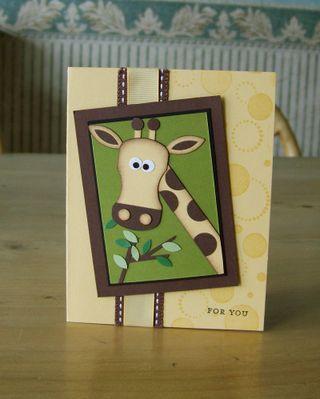 Punch art giraffe