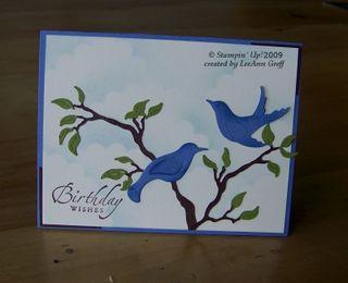 Birds on a Branch big shot card
