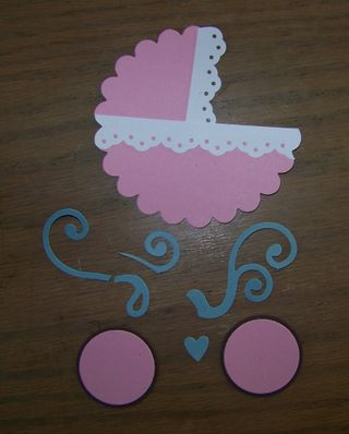 Punch art baby carriage pieces