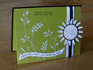 Window sheet green black daisy