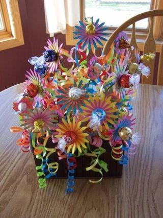 Janes candy bouquet