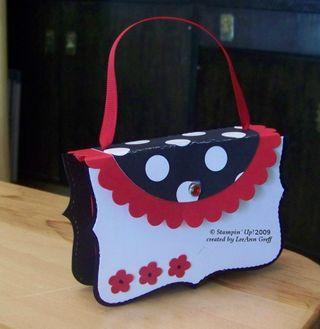 Big Shot red black purse box