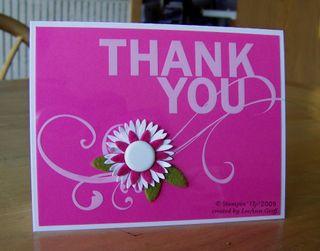Window sheet pink thank you