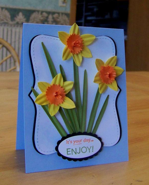 Punch Art Wednesday Daffodils Flowerbug S Inkspot
