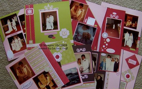 Wedding scrapbook in a day plan pages