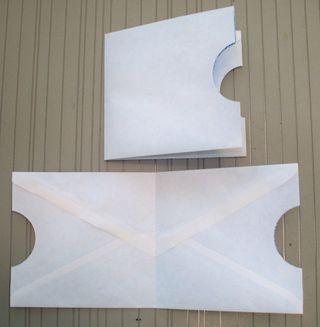 Envelope pocket card holder 3