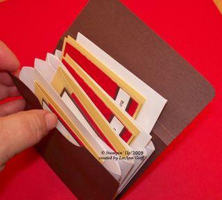 Envelope pocket card holder 6
