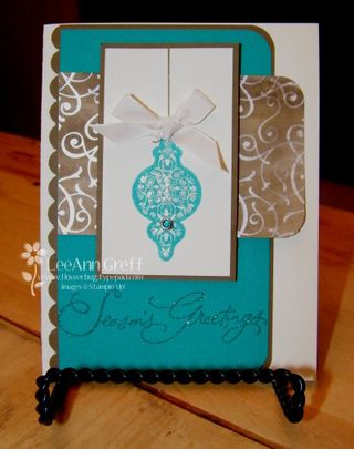 Bridesmaid suede xmas card