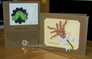 August 09 Technique flower soft cards
