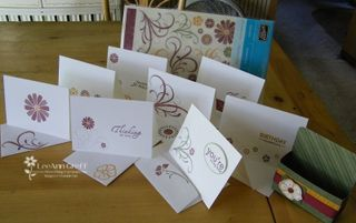 Dotted Delicate notecards 1