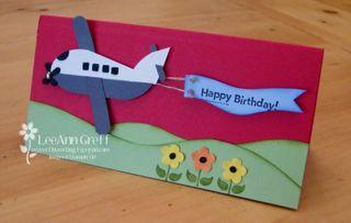 Punch art airplane