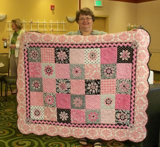 Pink quilt me