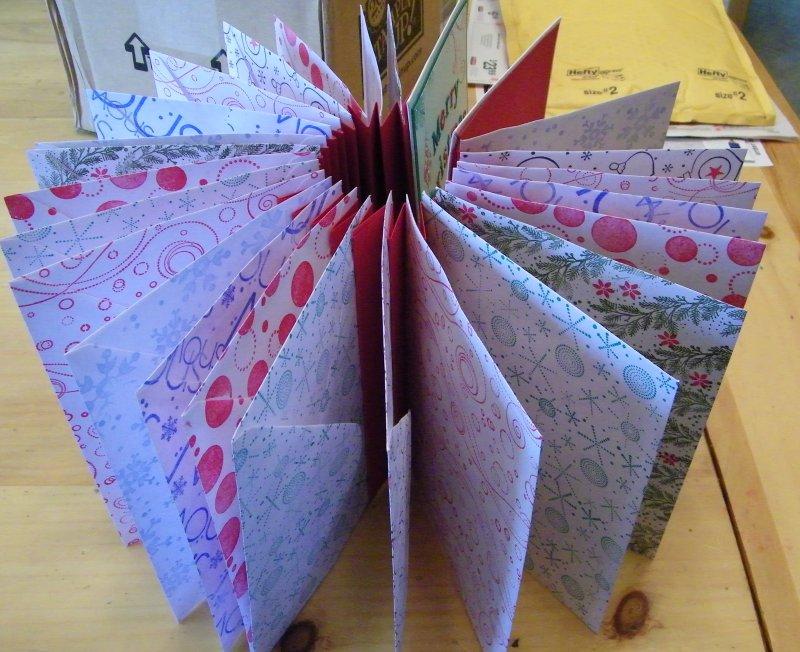 Envelope advent book open