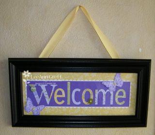 Name frame welcome