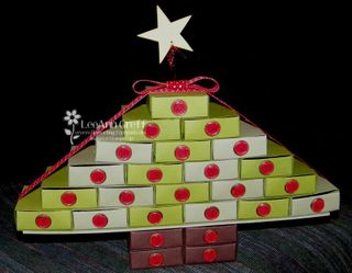 Advent matchbox tree 1