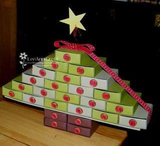 Advent matchbox tree
