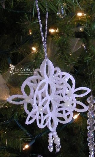 Crystal lattice ornament
