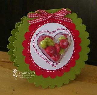 Heart cups scallop card
