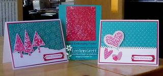 Jan 10 Frosted embossing folder tech cards