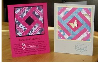 Jan 10 Paper Strip quiliting tech cards