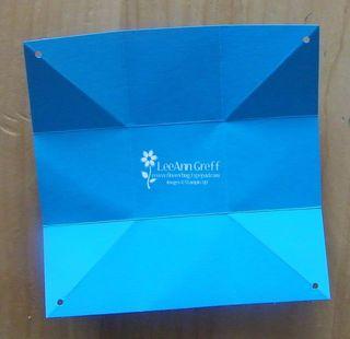 Valentine folded turquoise open