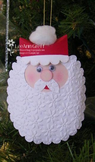 Scalloped Santa ornament