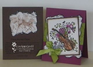 Feb 10 Faux Burned paper cards