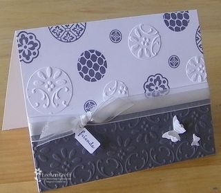 Kathys gray & white embossed card 1