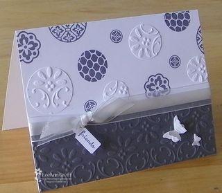 Kathys gray & white embossed card 1