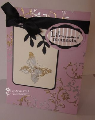 2-toned embossing card