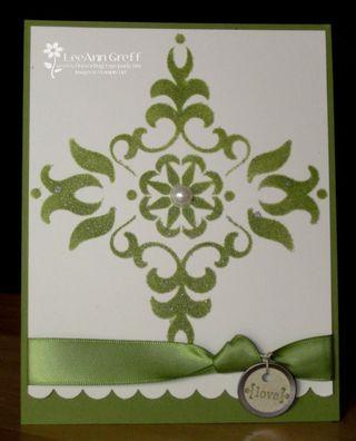 Vintage stencil swap olive