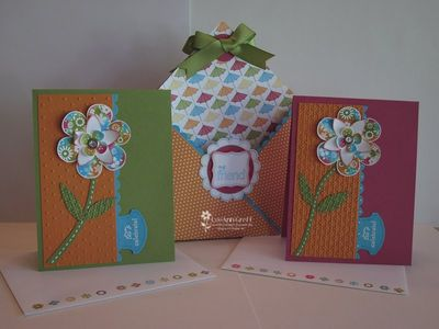 12 X 12 card tote & cards