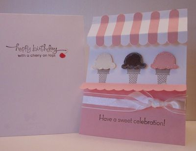 July Ice Cream Shoppe card
