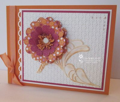 Punch art scallop flower card