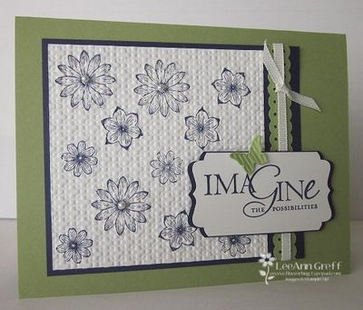 October 10 Inlaid Embossing card