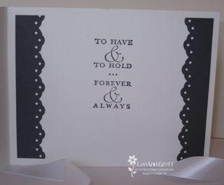 April club wedding card inside